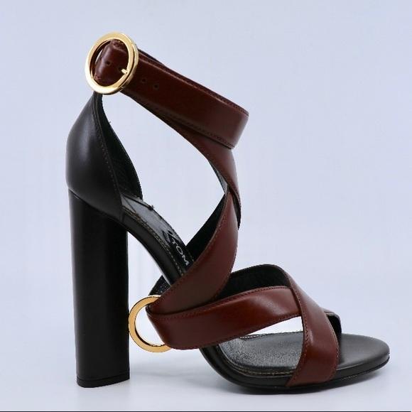 4e79e55b740 Tom Ford Cinnamon and Dark Brown Sandal Heels NWT